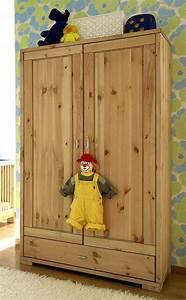 Massivholz Kinderschrank 2trig Babyschrank Kleiderschrank