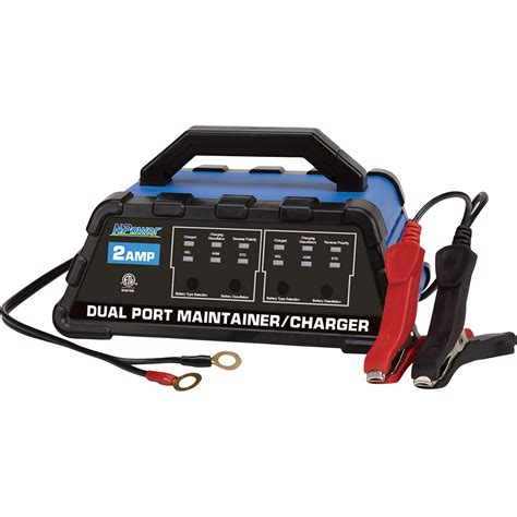 Npower Dual Port 4stage Battery Charger €� 12 Volt, 2 Amps