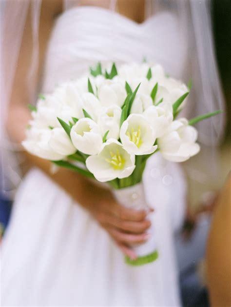 white tulip wedding bouquet elizabeth anne designs