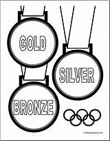 Olympic Coloring Medal Medals Olympics Winter Gold Silver Bronze Rings Pages Drawing Printable Template Abcteach Summer Sketch Getdrawings Getcolorings sketch template