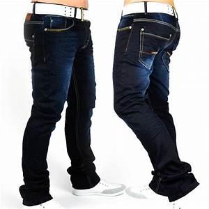 Herren Jeans Auf Rechnung : neu herren jeans hose designer denim dunkelblau style slim fit clubwear loverboy ebay ~ Themetempest.com Abrechnung