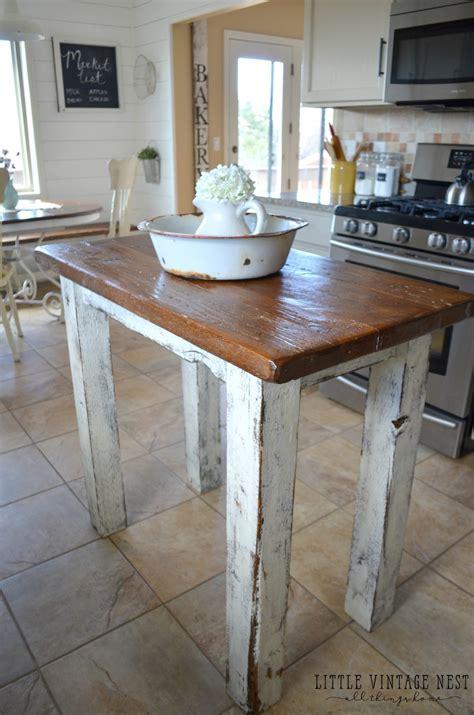 rustic kitchen island  vintage nest