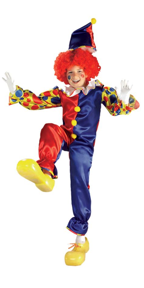 kids unisex bubbles  clown fancy dress  party costume