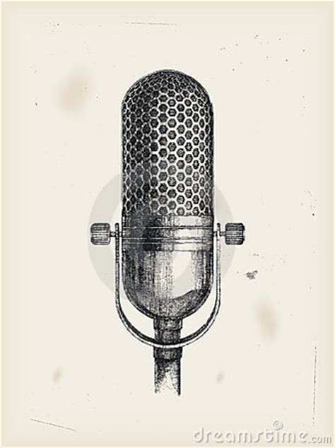 microphone drawing royalty  stock image image