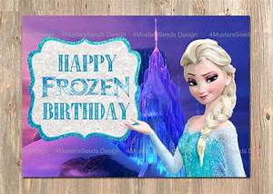 5 Best Images of Printable Frozen Happy Birthday Card ...