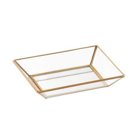 Three By Three Mirrored Glass Jewelry Trays The