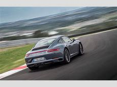 The 2017 Porsche 911 Carrera 4S on a track in South Africa
