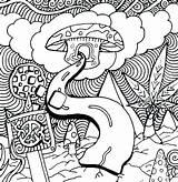 Coloring Mushroom Adults Printable Getcolorings Getdrawings sketch template