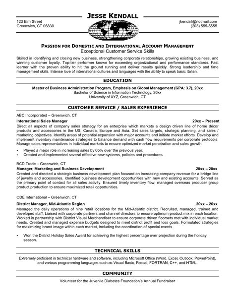 business to business sales resume sle all templates deal