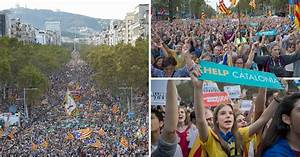 More than 450,000 protesters storm Barcelona streets over ...