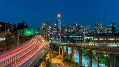 Seattle Night Building Skyline Cityscape Landmark Skyscraper