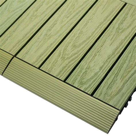 ipe deck tiles home depot newtechwood 1 6 ft x 1 ft deck composite deck tile