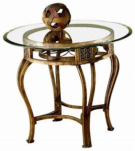 hillsdale scottsdale 26 inch round end table with glass With 26 inch round coffee table