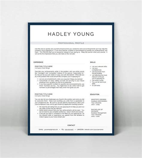 Pages Resume Templates by Professional Resume Template For Word And Pages By