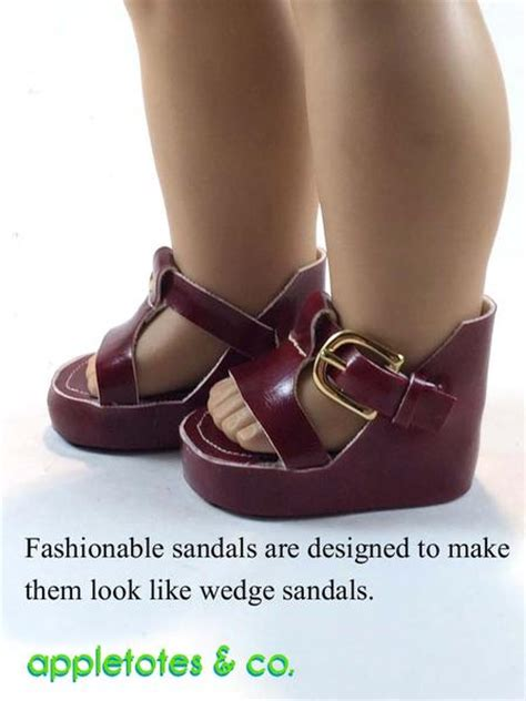 appletotes   platform sandals doll shoe pattern