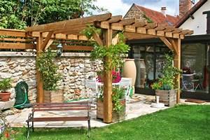 pergolas bois 300mx400m cerisier abris de jardin en With comment monter une tonnelle de jardin 16 decoration jardin