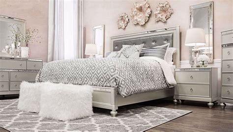 glam  piece king bed dresser mirror nightstand home