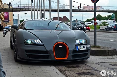 Gray Bugatti Veyron Vitesse Front View Spotted In