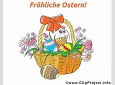 Froehliche Ostern Karte mit Osterkorb