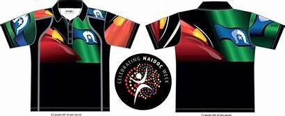 Indigenous Polo Flag Shirt Naidoc Bongo B118
