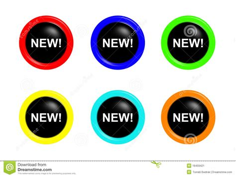 Set Of New Buttons Stock Image  Image 18459421