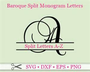 SVG Split Letter Monogram