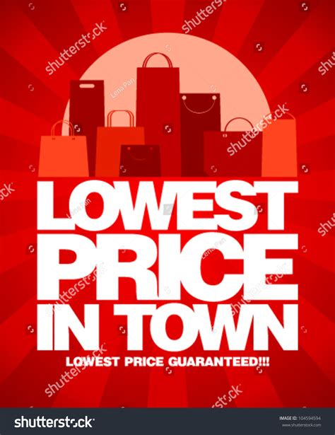 lowest price town sale design shopping stock vector