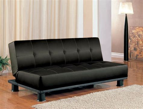 Bed Sleeper Sofa by Futon Sleeper Sofa Bed Vinyl Leather Finish Ebay