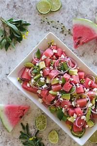 Melone Mit Schafskäse : wassermelonen avocado salat mit minze feta und limetten zutaten 4 tassen melone in w rfeln 1 ~ Watch28wear.com Haus und Dekorationen