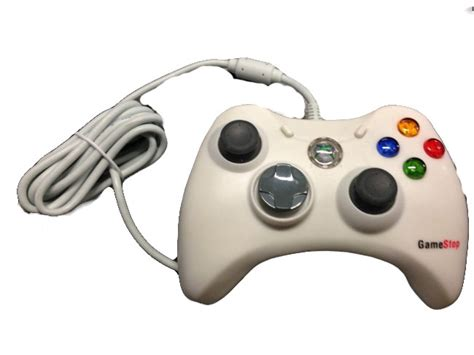 gamestop wired controller  xbox  white gamepad bb