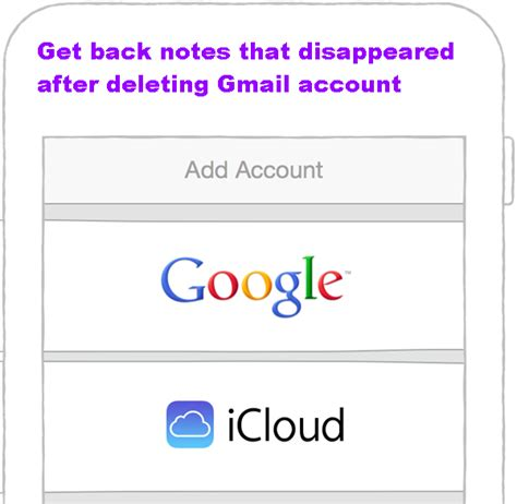 my notes on my iphone disappeared get back notes that disappeared after deleting gmail account