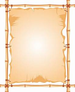 Clipart - Bamboo frame