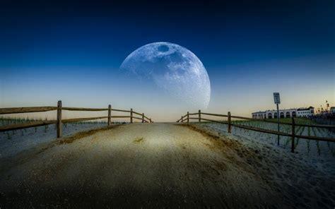 moon hot summer night