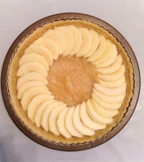 tarte aux pommes compote maison tarte aux pommes avec compote maison le bon chef