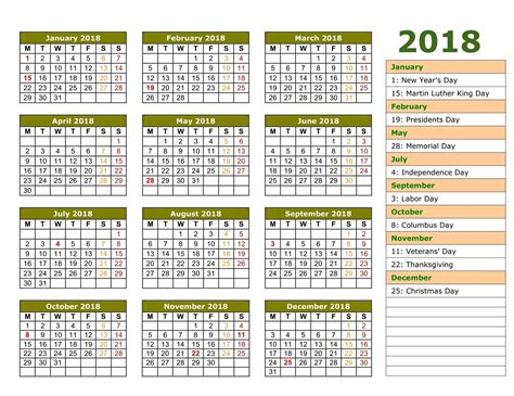 yearly calendars  holidays activity shelter