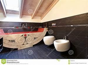 salle de bains avec le bain ethnique photo libre de droits With meuble salle de bain ethnique