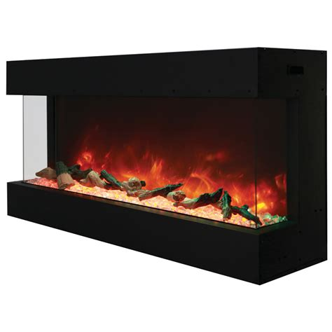 outdoor electric fireplace amantii 50 50 tru view xl 3 sided indoor or outdoor