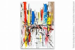 Tableau Coloré Moderne : tableau blanc design wall street ~ Teatrodelosmanantiales.com Idées de Décoration