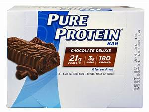 Worldwide Sports Nutrition Pure Protein U00ae Bar Chocolate Deluxe -- 6 Bars