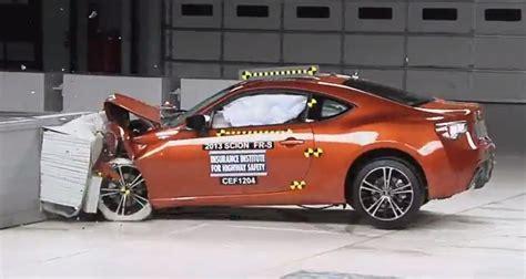subaru brz  scion fr  iihs crash test