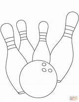 Bowling Coloring Strike Pages Drawing Pins Printable Dot Getdrawings Stars Categories sketch template