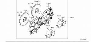 Nissan Altima Engine Cooling Fan Shroud  Cvt  Radiator