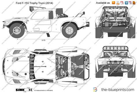 Ford F-150 Trophy Truck Vector Drawing