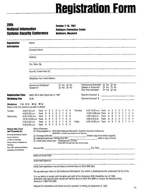 Course Enrolment Form Template by Registration Form Templates Find Word Templates