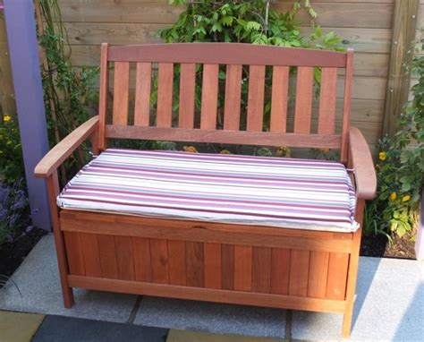 outdoor storage bench free water based wood
