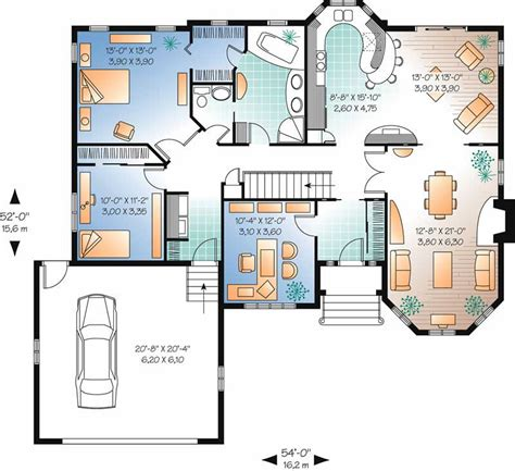 contemporary 2 bedroom house plans ranch contemporary home with 2 bedrooms 1572 sq ft 18534 | flr lr2270 1