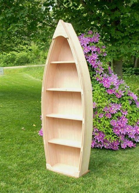 6 Ft Unfinished Row Boat Shelf Bookshelf Bookcase Hand Crafted