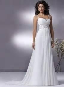 chiffon wedding gown 2010 simple style wedding dress chiffon beading banded straps prlog