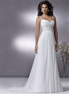 2010 simple style wedding dress chiffon crystal beading With white chiffon wedding dress