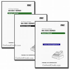 Tec Cash Register Manual